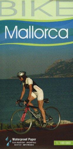 Mallorca, mapa cicloturista. Escala 1:100.000. Resistente al agua. Castellano, Català, English, Deustch. Jaume Tort.
