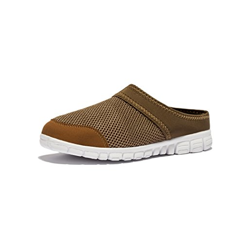 Kensbuy Men's Breathable Summer Mesh Sneakers Leisure Closed Toe Slippers (37 EU (6 B(M) US Women), brown)