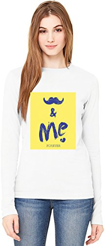 You And Me T-Shirt da Donna a Maniche Lunghe Long-Sleeve T-shirt For Women| 100% Premium Cotton| DTG Printing| Small