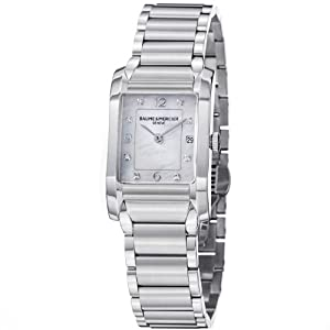 Baume & Mercier Women's MOA10050 Quartz Stainless Steel Mother-of-Pearl Dial Watch by Baume & Mercier