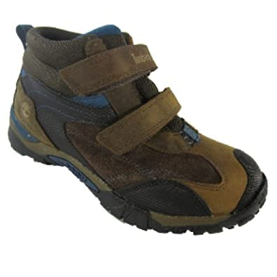 Timberland Boys Trail Ranger Waterproof Velcro Mid Shoe / Trainer - Brown 6