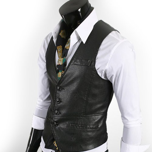 K-STYLE Asian size Casual Modern Male Leather