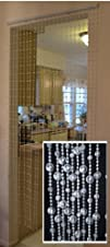 Hanging Beaded Door Curtainsdividers  Crystal White Earth