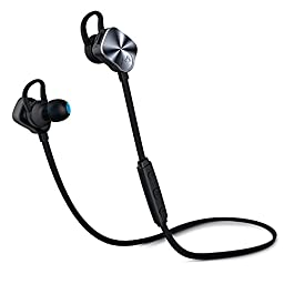 Mpow Wolverine Bluetooth Headphones V4.1 Wireless Sport Headphones Noise Cancelling In-ear Stereo Earbuds 8-Hour Playing Time with Mic for Running Jogging Exercise