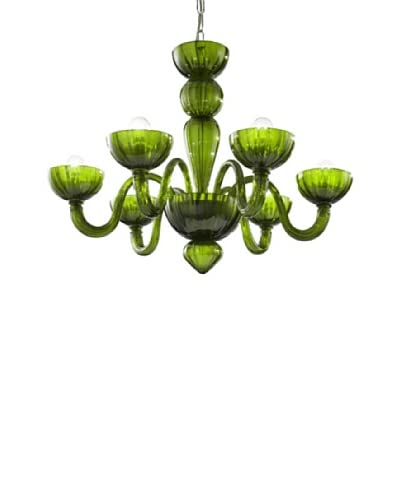 Glass of Venice Torcello Chandelier, Green