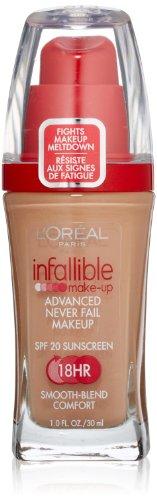 L'Oreal Infallible Advanced Never Fail Makeup, True Beige, 1-Fluid Ounce