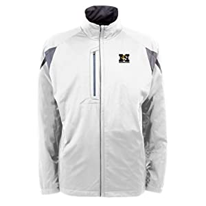 Missouri Tigers NCAA Highland Mens Full Zip Sports Jacket (White) by Antigua