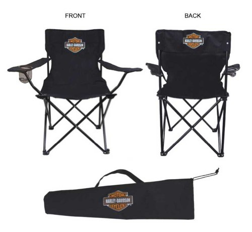 Harley-Davidson Compact Bar & Shield Chair - Black CH30230