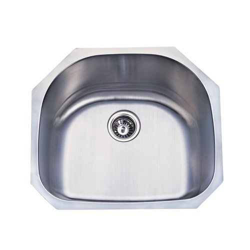 Kingston Brass Gourmetier GKUS2321 Undermount Single Bowl Kitchen Sink 23-1/2-Inch-Length  by 21-Inch-Width by 9-Inch-Depth, 18 Gauge, Brushed Stainless Steel