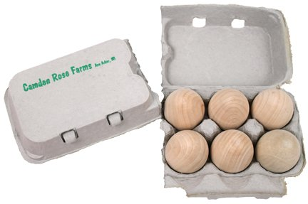 Good Wood Eggs, Six In A Recyclable Carton (Childs Play Food) front-125392