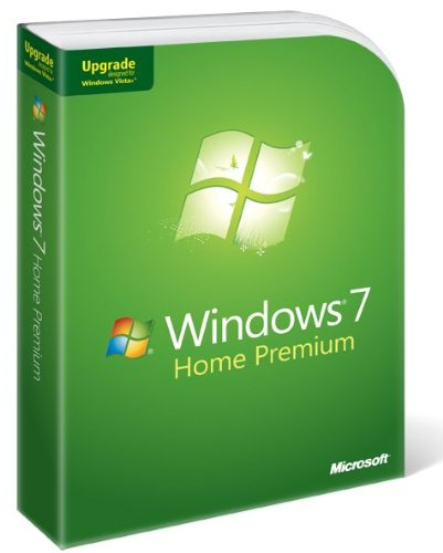Microsoft Windows 7 Home Premium, Upgrade Edition for XP or Vista users (PC DVD), 1 User
