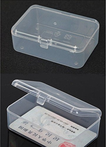 Small Transparent Plastic Haoc Storage Box Clear Square Multipurpose Display Box (Plastic Display Box Square compare prices)