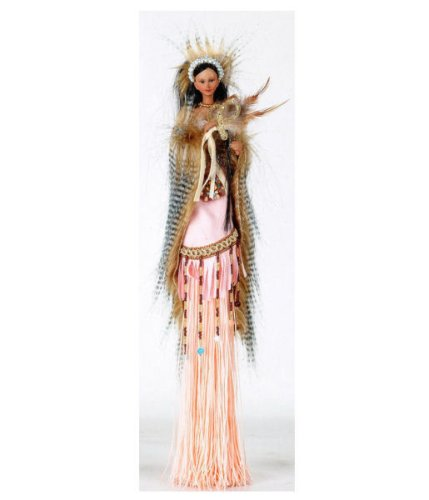 Buy MITENA 15″ Polyresin Tassel Native American Doll