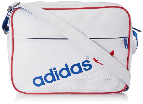 Adidas Originals Borsa a traccola - AIRLINER PERF One Size, Bianco/Blu/Rosso