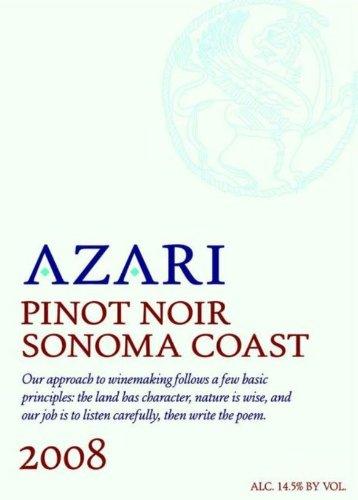 2008 Azari Sonoma Coast Pinot Noir 750 Ml