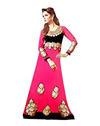 Zerel Womens Georgette Straight Dress Material (Ze-751 _Pink _Free Size)