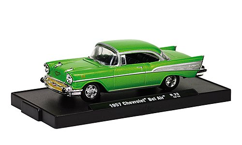 Chevrolet Bel Air Tuning, met.-green , 1957, Modellauto, Ready-made, M2 Machines 1:64
