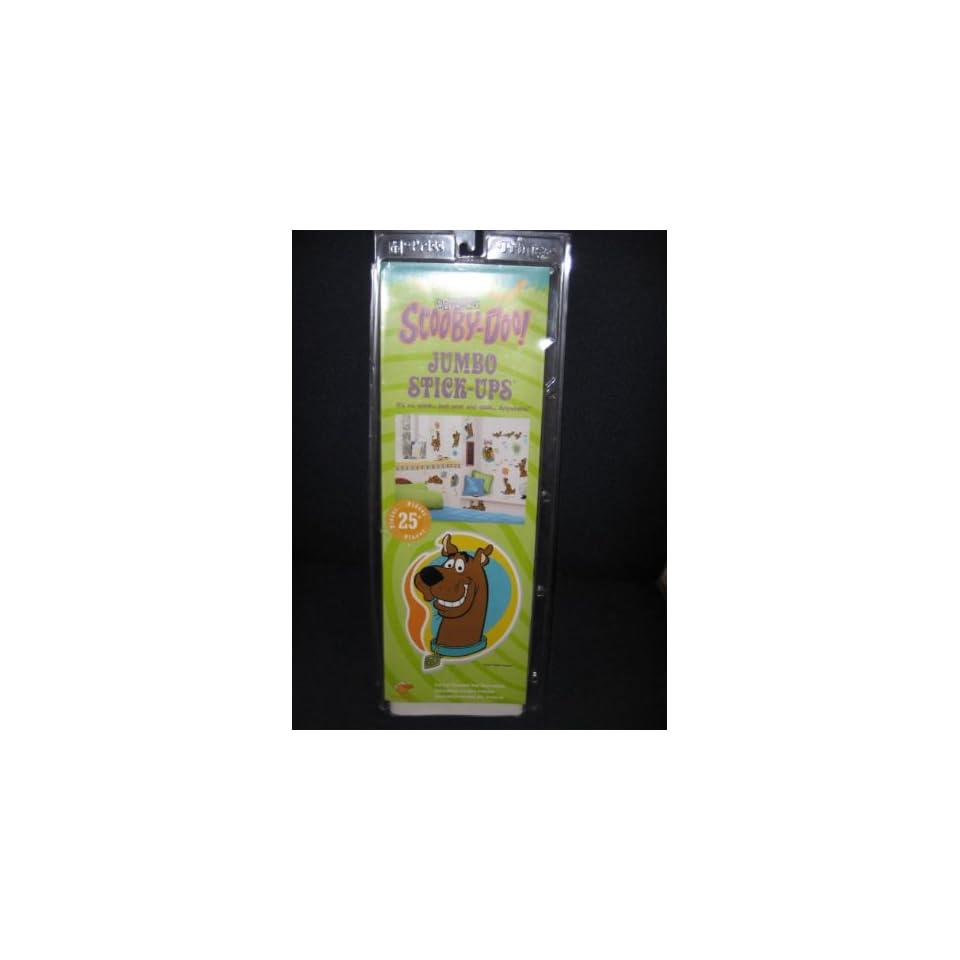Cartoon Network Scooby Doo   25 Piece Stick Ups   Pre Cut Reusable Wall Decorations