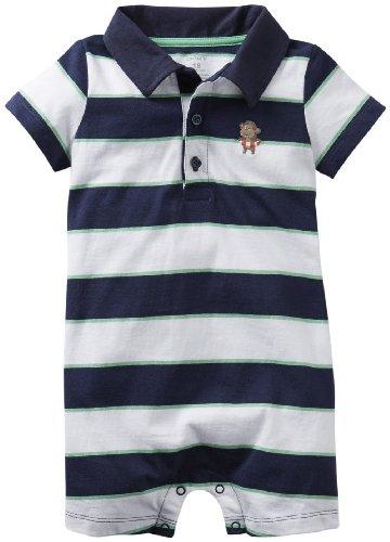 Carter'S Baby Boys' Romper (Baby) - Navy/White - 9 Months