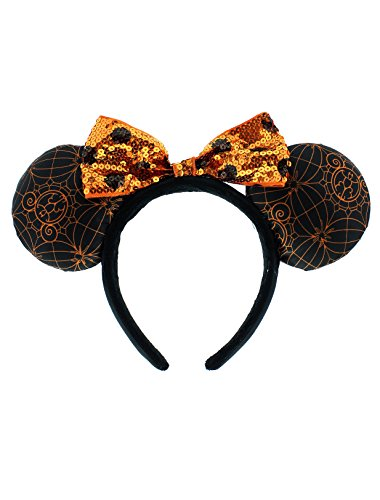 Disney Parks Halloween Minnie Mouse Ears Headband NEW (Disney Minnie Ears Headband)