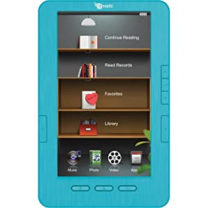 """Ematic 7"""" TFT LCD Color eBook Reader with Kobo EB105 - Blue"""