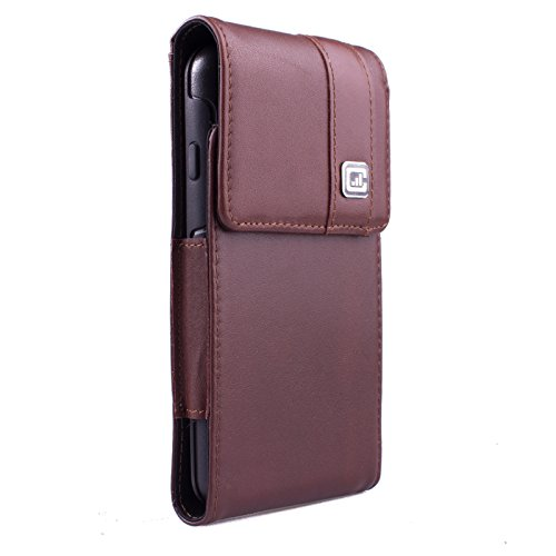 [Gorilla Clip] CASE123 MPS MkII TL Premium Genuine Leather Large Oversized Vertical Swivel Belt Clip Holster for Apple iPhone 6 / 6s / 7 for use with Otterbox Commuter/Symmetry,Speck,Spigen,Case-mate (Gorilla Clip compare prices)