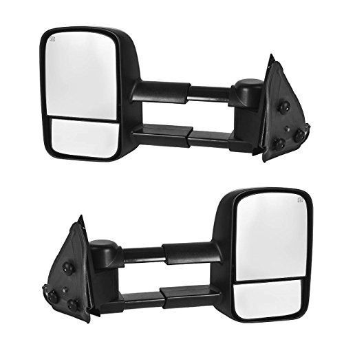 DEDC Towing Mirrors Fit For 1999-2002 Chevy Silverado 1500 2500 3500 GMC Sierra Yukon Power Heated Manual Telescoping (2000 Chevy 3500 compare prices)