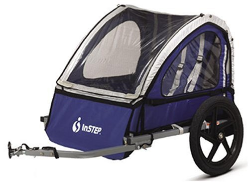 InStep Quick N EZ Bicycle Trailer (Blue/Gray) (B00006JHVN ...