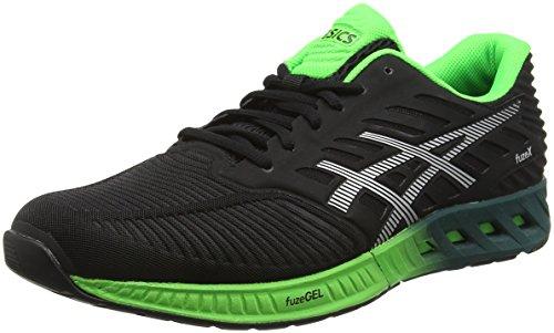 asics-fuzex-scarpe-running-uomo-nero-black-silver-green-gecko-44-eu