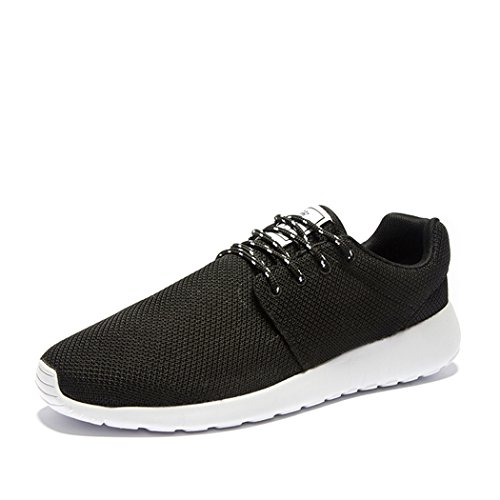 Adi Mens Breathable Comfortable Lace-Up Running Shoes,Walk,Beach Aqua,Outdoor,Exercise,Athletic Sneakers EU44 Black