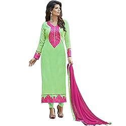 Vasu Saree Dashing Light Green Colour Georgette Straight Salwar Suit-1015