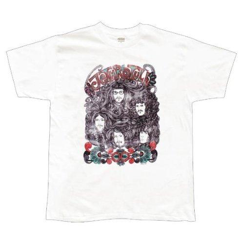 Old Glory Mens Jethro Tull - Band Portrait Soft T-Shirt - Large White