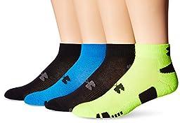 Under Armour Men\'s HeatGear Lo Cut Socks, Electric Blue/Assorted, Large