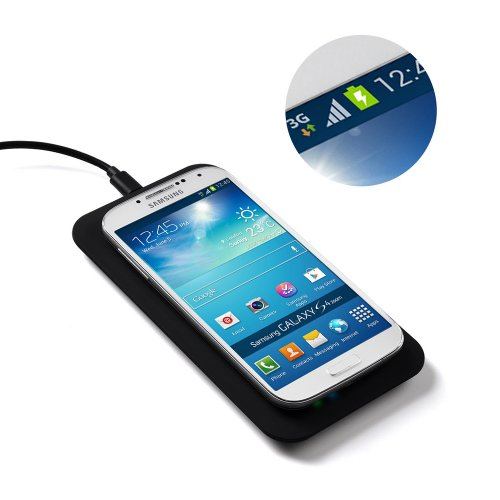 Victsing Qi Enabled Wireless Charging Pad Station For All Qi Standard Compatible Devices Including Samsung,Nokia, Google, Nexus, Lg, Htc And Other Smartphones With Receivers (Micro Usb Cable Included) Black