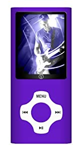 Visual Land Rave 8 GB 2-Inch Screen MP3 Player with MP3, MP4, Camera, Video, Music, FM, Voice and In-Ear Headphones Combo (Purple)