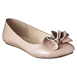 Product Image Women's Mossimo Supply Co. Odell Ruffle Ballet Flats - Blush Patent