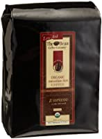 The Bean Coffee Company, Il Espresso (Classic Dark Roast) Organic Ground Coffee, 5-Pound Bags