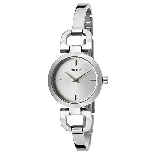DKNY NY8540 - Reloj para mujeres, correa de acero inoxidable color plateado