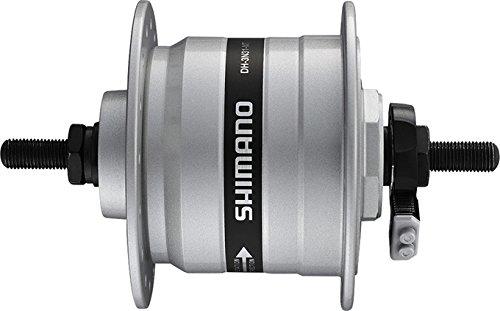SHIMANO NABENDYNAMO DH-3N31-QR 32 LOCH(13) QR 133MM, M.SM-DH10 SILBER E-DH3N31BSG