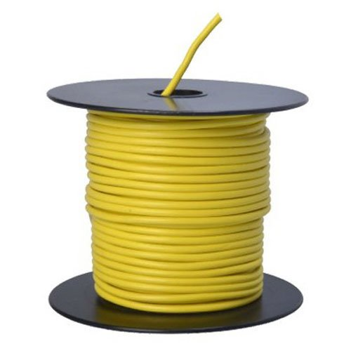 Southwire 55670823 Primary Wire, 14-Gauge Bulk Spool, 100-Feet, Yellow (Color: Yellow, Tamaño: 14-Gauge)