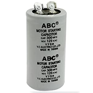 Amico AC 125V 300uF 300MFD 2 Terminals Polypropylene Film Motor Run Start Capacitor by Amico