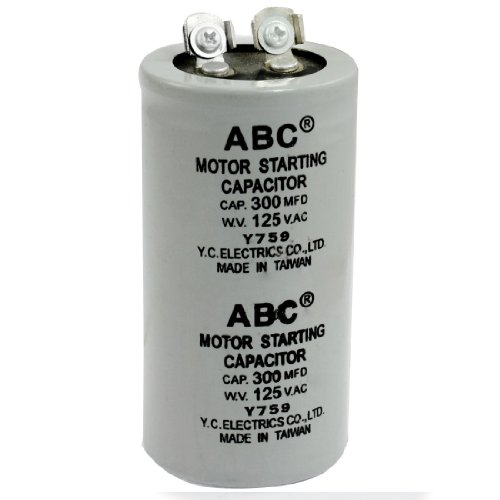Amico AC 125V 300uF 300MFD 2 Terminals Polypropylene Film Motor Run Start  Capacitor