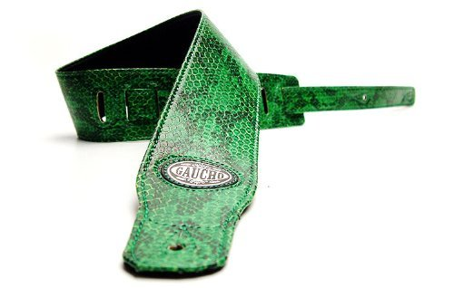 Green 'Wildlife Series' Faux Leather Guitar Strap For Electric/Acoustic/Bass Guitar