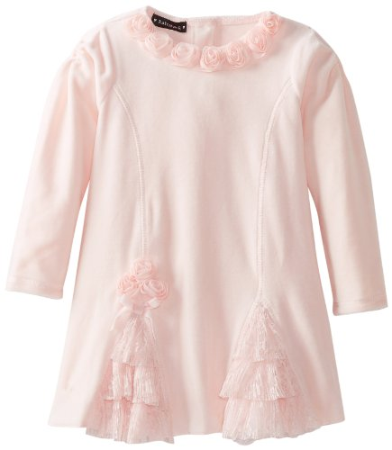 #1 Kate Mack Baby-Girls Confetti Hearts Infant Dress, Pink, 12 Months