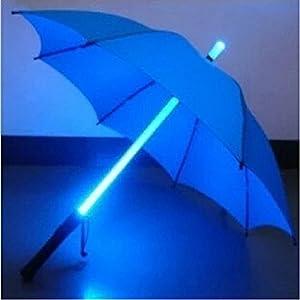ZHOL Blue LED Lighted Umbrella