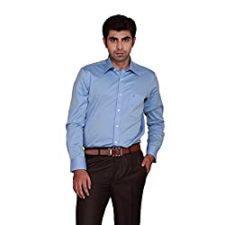 GIVO Classic Blue Solid Formal Shirt