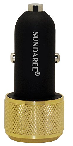 Sundaree®-3.1Amps/15W Dual Usb Car Charger [Gold] Vority Fast & Smart Dc5.0 2.1A/12Watts+1.0A/5Watts Universal Ports, Smart Power Supply For Apple Ipad Air/4/3/2, Iphone 6/Iphone5S/5C/5/4S/4/3Gs, Ipod, Samsung Galaxy Tab 3/2, Note 3/2, S 4/3/2, Motorola D