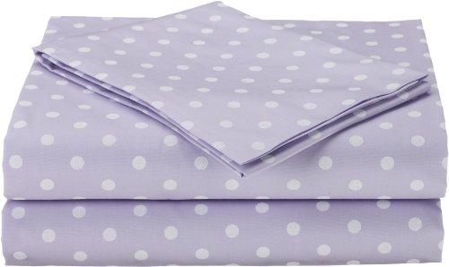 Imagen de American Baby Compañía percal de 3 piezas Juego de sábanas para niños pequeños, Lavendar Dot