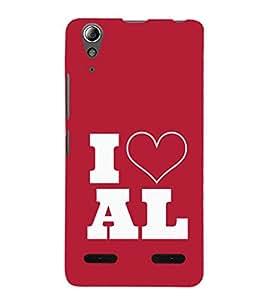 EPICCASE I love All Mobile Back Case Cover For Lenovo A6000 (Designer Case)