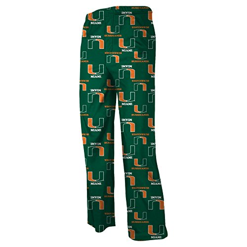 NCAA Miami Hurricanes Colored Printed Pant, Dark Green, Large (Miami Hurricanes Football Pants compare prices)